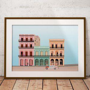 Cuban Life illustration print